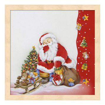 Metaverse Art Santa's Christmas Pause Framed Wall Art