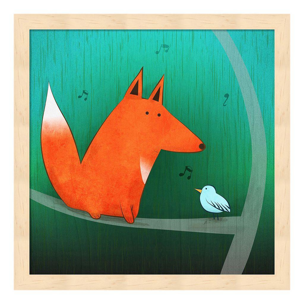 Metaverse Art Fox In Tree Framed Wall Art