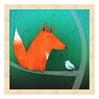Metaverse Art Fox In Tree Framed Wall Art
