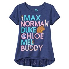 Disney / Pixar The Life of Pets 'Max, Norman, Duke, Chloe, Mel & Buddy' Girls 4-6x High-Low Tee