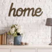 "Stratton Home Decor ""Home"" Wall Art"