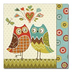 Trademark Fine Art Owl Wonderful II Canvas Wall Art