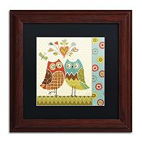 Trademark Fine Art Owl Wonderful II Wood Finish Framed Wall Art