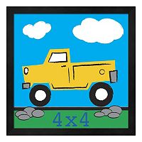 Metaverse Art Yellow Truck Framed Wall Art