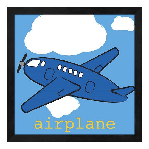 "Metaverse Art ""Airplane"" Framed Wall Art"