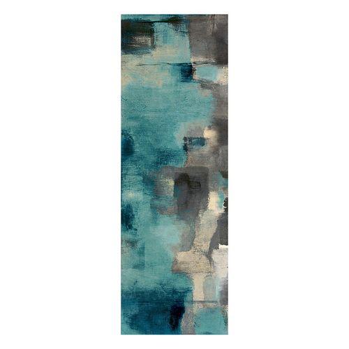 Downtown Blue Rain Canvas Wall Art