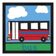 Metaverse Art 'Bus' Framed Wall Art