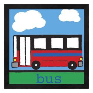 """Metaverse Art """"Bus"""" Framed Wall Art"""