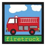 Metaverse Art 'Red Firetruck' Framed Wall Art