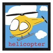 Metaverse Art 'Helicopter' Framed Wall Art