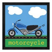 Metaverse Art 'Motorcycle' Framed Wall Art