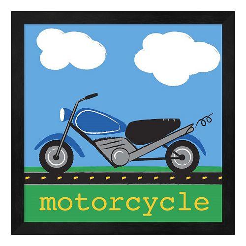 "Metaverse Art ""Motorcycle"" Framed Wall Art"