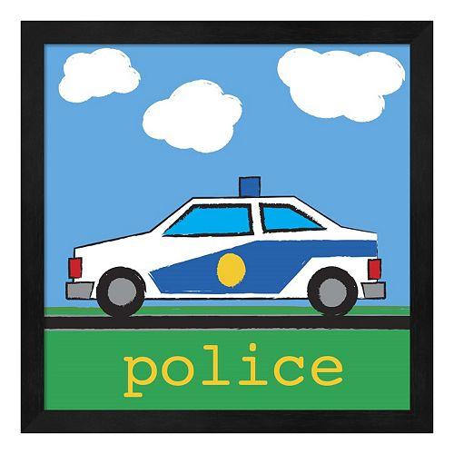 "Metaverse Art ""Police"" Framed Wall Art"