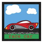 Metaverse Art 'Race Car' Framed Wall Art
