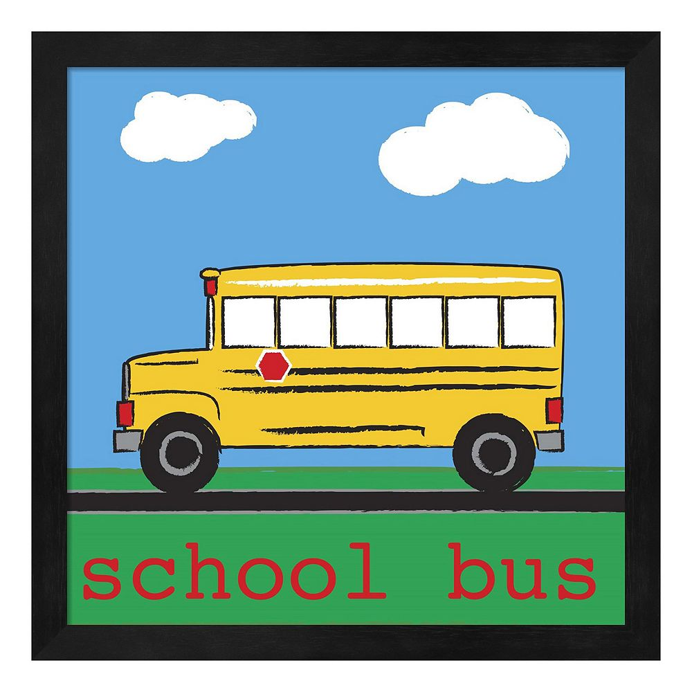 Metaverse Art School Bus Framed Wall Art