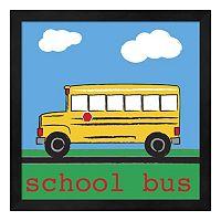 Metaverse Art School Bus Framed Wall Art