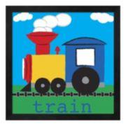 Metaverse Art Train Framed Wall Art