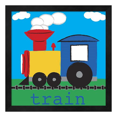 Metaverse Art Train Framed Wall Art
