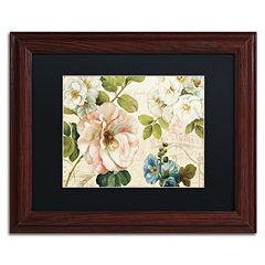 Trademark Fine Art Les Jardin I Wood Finish Framed Wall Art