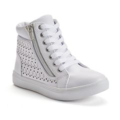 SO® Girls' Cutout High-Top Sneakers