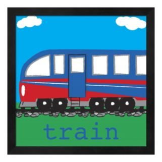 Metaverse Art Modern Train Framed Wall Art
