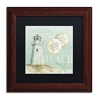 Trademark Fine Art Beach House I Wood Finish Framed Wall Art