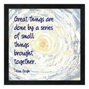 Metaverse Art 'Great Things' Framed Wall Art