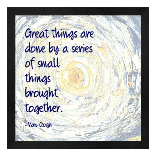 "Metaverse Art ""Great Things"" Framed Wall Art"