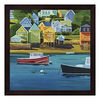 Metaverse Art Harbor Framed Wall Art