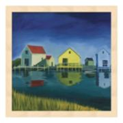 Metaverse Art Kennebunkport Shacks Wood Framed Wall Art