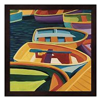 Metaverse Art So Freeport Dinghies Framed Wall Art