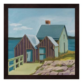 Metaverse Art Willard Beach Framed Wall Art