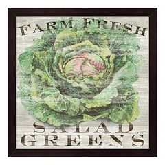Metaverse Art Farm Fresh Greens Framed Wall Art