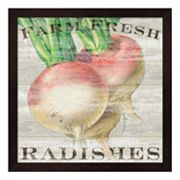 Metaverse Art Farm Fresh Radishes Framed Wall Art