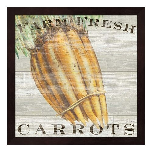 Metaverse Art Farm Fresh Carrots Framed Wall Art