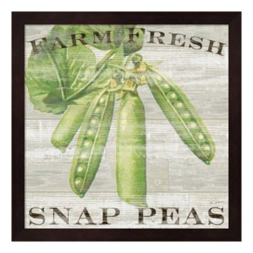 Metaverse Art Farm Fresh Peas Framed Wall Art
