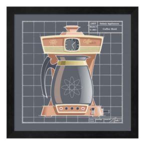Metaverse Art Galaxy Coffeemaid Framed Wall Art