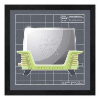 Metaverse Art Galaxy Toaster Framed Wall Art