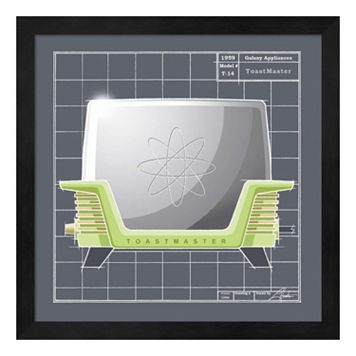 Metaverse Art Galaxy Toaster Framed Wall Art