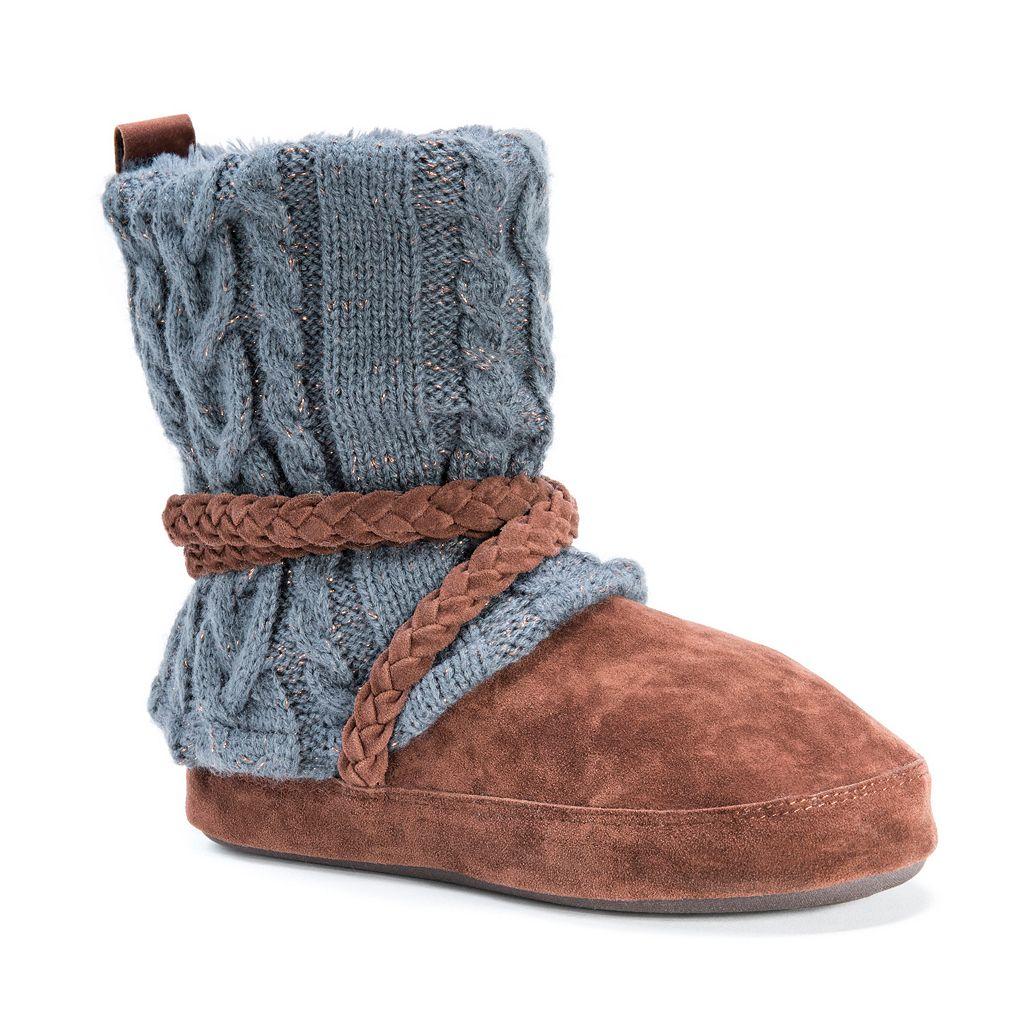 MUK LUKS Women's Judie Sweater Knit Boot Slippers