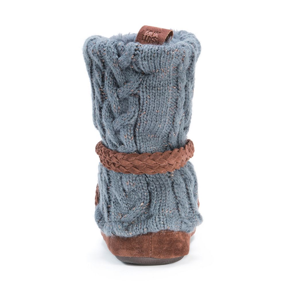 MUK LUKS Women's Judie Sweater Knit Boot Slippers