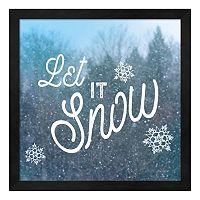 Metaverse Art Let it Snow I Framed Wall Art