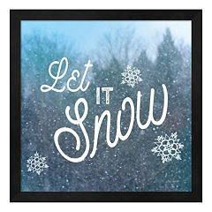 Metaverse Art Let it Snow I Framed Wall Art