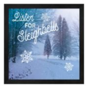 Metaverse Art Let it Snow II Framed Wall Art