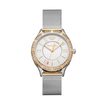 Juicy Couture Women's Arianna Crystal Two Tone Stainless Steel Mesh Watch - 1901380