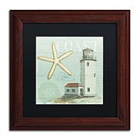 Trademark Fine Art Beach House II Wood Finish Framed Wall Art