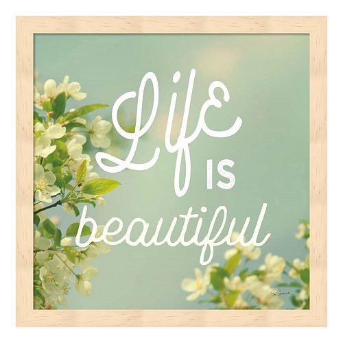 "Metaverse Art ""Life Is Beautiful"" Wood Framed Wall Art"