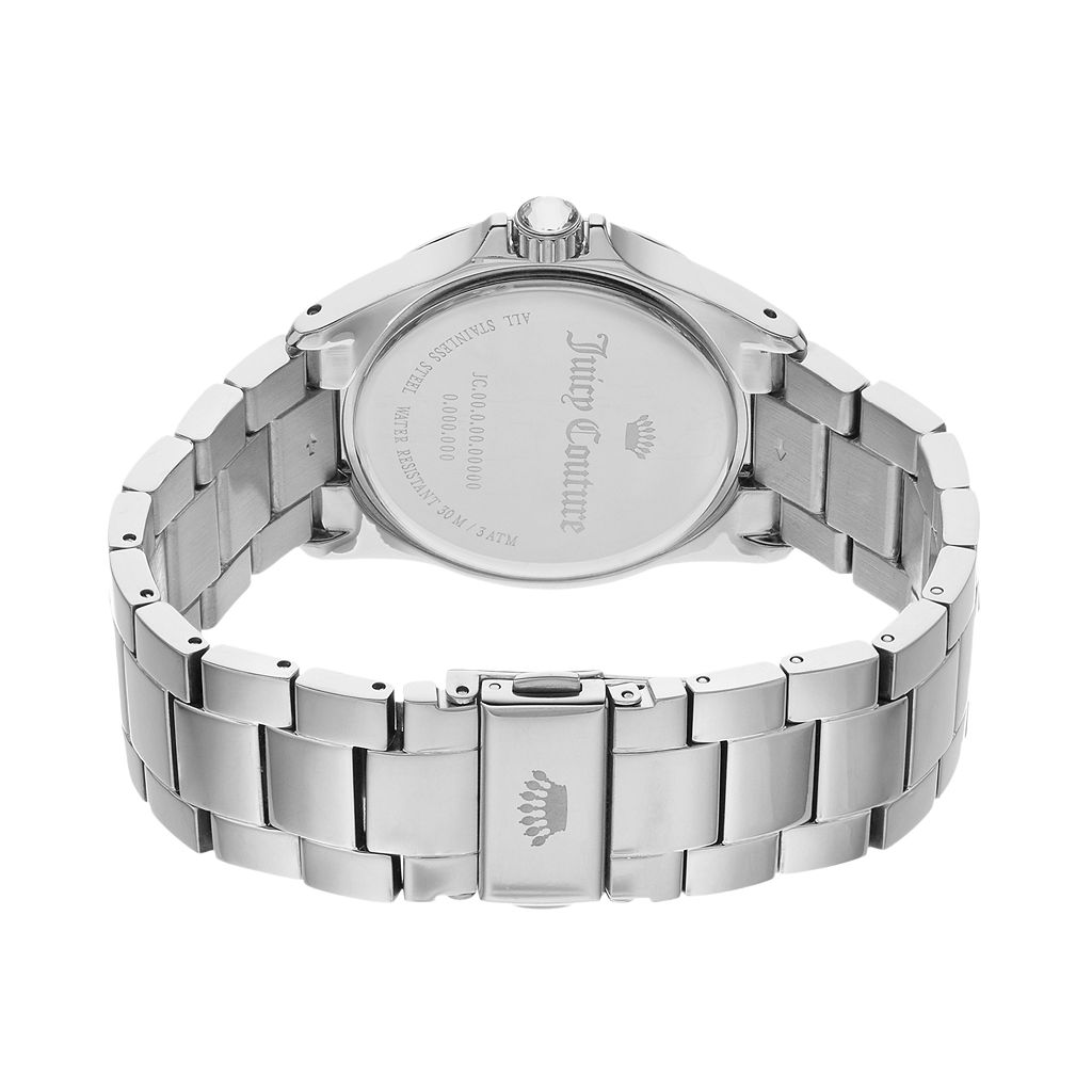 Juicy Couture Women's Charlotte Crystal & Mother-of-Pearl Stainless Steel Watch - 1901498