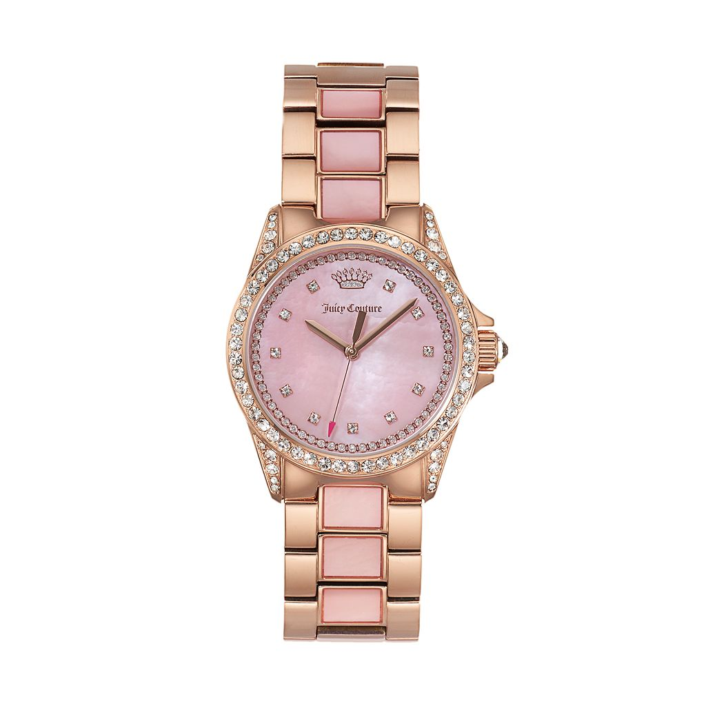 Juicy Couture Women's Charlotte Crystal & Mother-of-Pearl Stainless Steel Watch - 1901499