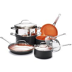 Gotham Steel 10-pc. Nonstick Titanium & Ceramic Cookware Set As Seen on TV